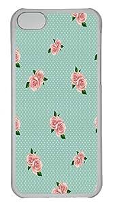 IMARTCASE iPhone 5C Case, Rose Background PC Hard Case Cover for Apple iPhone 5C Transparent