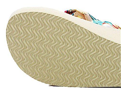 Le Sandali Spiaggia Da Di Good Boemia Night Modo Infradito Avorio Zeppa Della Stile Per Donne wUFnqAxU7
