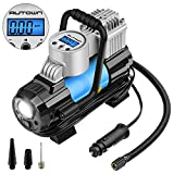 #8: AUTOWN Portable Air Compressor Pump Digital Tire Inflator Gauge - Preset Pressure,Auto Shut Off