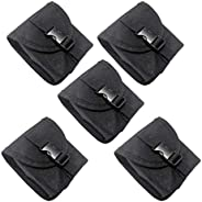 5Pcs Scuba Diving Spare Weight Belt Pocket - Strong Nylon & Durable, Black, 5.5 x 4.7 inch - Underwater Eq