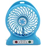 DealMux 3 Shift Multi-functional Portable Rechargeable USB Fan Blue for Auto Car Outdoor