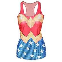 Amoluv Hot Fashion Women Batman Printed Sleeveless T Shirt Vest Tank Tops