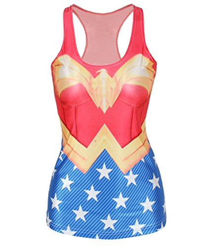Amoluv Hot Fashion Women Wonder Woman Cape Printed…