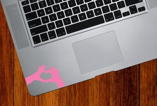 Heart Hands - Trackpad / Keyboard - Vinyl Decal (Color Variations Available) (Pink)