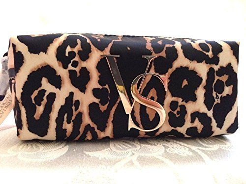 NWT Victoria's Secret Makeup Bag Animal Print /Gold Cosmetic