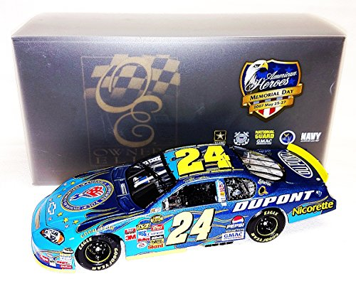 AUTOGRAPHED 2007 Jeff Gordon #24 DuPont Racing DOD MILITARY (American Heroes) Action RCCA Owners Elite 1/24 NASCAR Diecast Car with COA (#1094 of only 2,007 produced!)