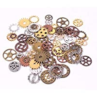 100pcs Mix Style Antique Steampunk Gears Charms Clock Watch Wheel Gear Pendant Charms for DIY Craft