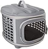 Pet Magasin Collapsable Hard Cover Pet Carrier - Dog & Cat Travel Kennel