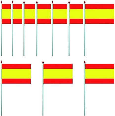 KOO Interactive Juego de 10 Banderas de España – Pancarta 4 x 6 Pulgadas – 10 x 15 cm: Amazon.es: Deportes y aire libre