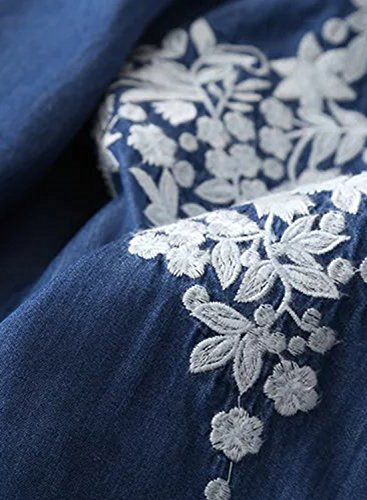 Futurino - Camisas - para mujer Oscuro Denim
