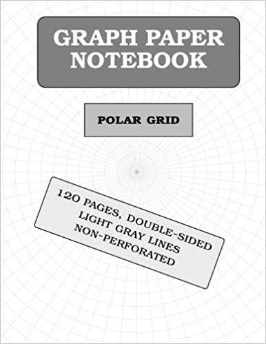 Polar Graph Paper Notebook  Pages Polar Coordinates Graph