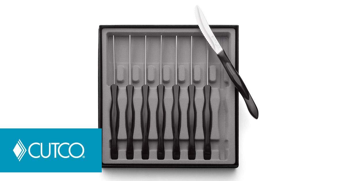 CUTCO Set of 8 Steak/Table Knives #1759 - Black