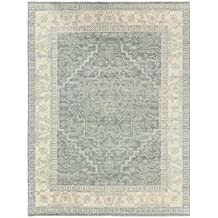9' x 12' Stone Blue and Dove Gray Faded Glory New Zealand Wool Area Throw Rug