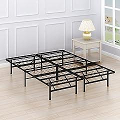 SimpleHouseware 14-Inch Platform Bed Frame, Queen (11040)