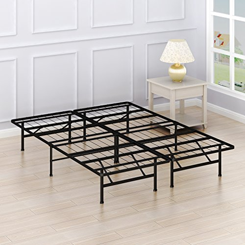Simple Houseware 14-inch Full Size Mattress Foundation Platform Bed Frame, Full (Bed Platform Furniture)
