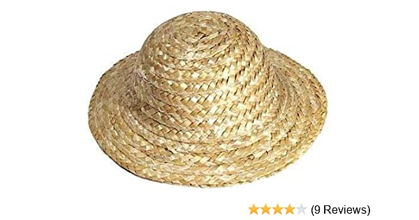 66cbef0e6 Package of Miniature 12 Straw Doll Hats 4