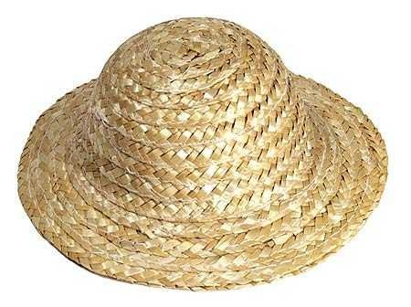 Package of Miniature 12 Straw Doll Hats 4