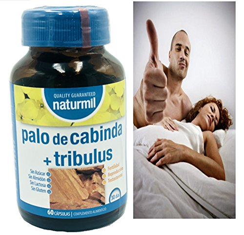 PAU DE CABINDA + TRIBULUS 60 C. NATURMIL virilidad masculina, contra la disfuncion erectil, potenciador sexual, estimulante sexual hombres y mujere, ...