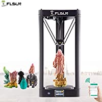FLSUN Pre-Assembled Delta 3D Printer High Precision High Speed with Large Printing Size ?260X370mm, Auto Leveling,Full Metal Frame,Touch Screen,WiFi Remote Control,Heated Bed,US Stock by FLSUN