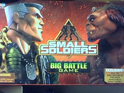 Small Soldiers Big Battle Game Board Game with Game Board with 3-d Backdrop, Spinner, 6 Gorgonite Figures and Flag, 6 Commando Elite Figures and Flag, 1 Catapult with Launcher and Ball, 2 Dice, 32 Cards, 1 Label Sheet and 1 Clip---figures Include Chip Hazard, Butch Meathook, Brick Bazooka, Nick Nitro, Link Static, Kip Killagin, with Archer, Freakenstein, Slamfist, Insaniac, Puchit and Ocula. (Butch Meathook)
