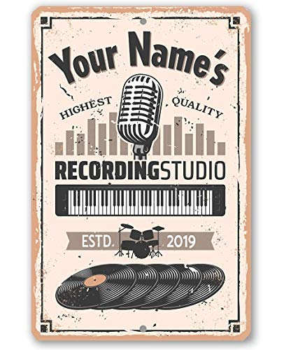 Personalized Recording Studio - Durable Metal Sign - 8