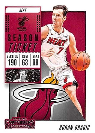 2018-19 Panini Contenders Season Ticket Basketball  90 Goran Dragic Miami  Heat 90 23eaa7e2e
