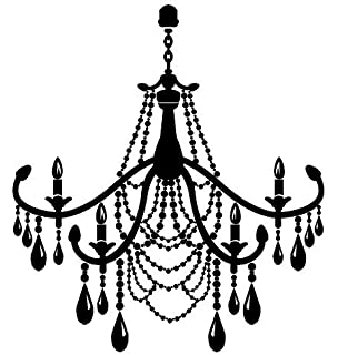 Newclew Fancy Elegant Burnish Chandelier Vinyl Wall Decal Removable 3