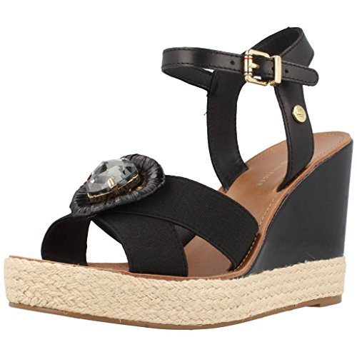 Tommy Hilfiger E1285LENA 14D Black, sandalia de mujer en color negro Negro