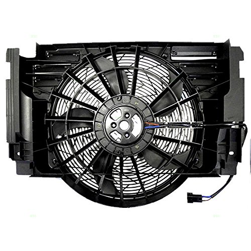 A//C AC Condenser Cooling Fan Assembly Replacement for BMW SUV 64546921940 64546921381