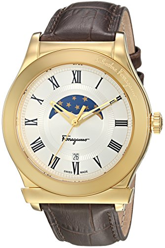 Salvatore-Ferragamo-Mens-FERAGAMO-1898-Quartz-Stainless-Steel-and-Leather-Casual-Watch-ColorBrown-Model-FBG030016
