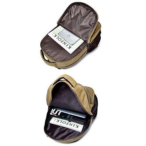 Beatsport - Bolso mochila  de Lona para mujer Negro A-Black Talla única A-Khaki