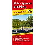 Rhön - Spessart - Vogelsberg: Motorradkarte mit Tourenvorschlägen, GPS-Tracks zum Gratis-Download, Ausflugszielen, Einkehr- & Freizeittipps, ... GPS-genau. 1:200000 (Motorradkarte / MK)