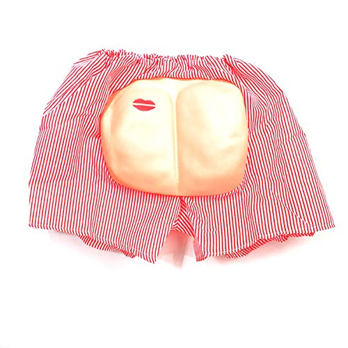 Naisidier Nude Buttocks Shorts with Plastic Fat Ass for Halloween Cosplay