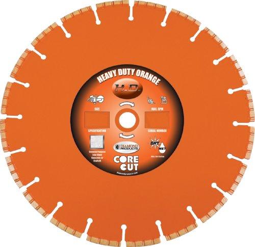 Diamond Products Core Cut Diamond Product 37682 Heavy Duty Orange Segmented High Performance Turbo Diamond Blade 20 X .125 X 1
