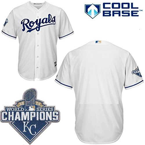 Kansas City Royals MLB Youth 2015 World Series Champions Patch Cool Base (Youth World Series)