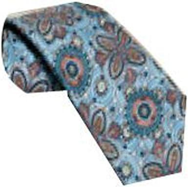 Robert Talbott Light Blue with Steel Blue Floral Paisley Seven Fold Tie