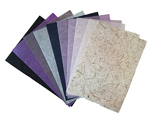 Japanese Tissue Paper - RATREE SHOP 10 Mulberry Paper Sheet Design Craft Hand Made Art Tissue Japan Origami Washi Wholesale Bulk Sale Unryu Suppliers Thailand Products Card Making (No03)