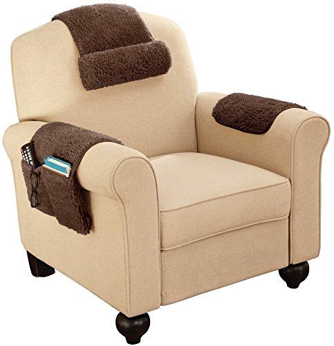 Sherpa Fleece Armchair Cover - Set Of 3 Brown - Buy Online ...