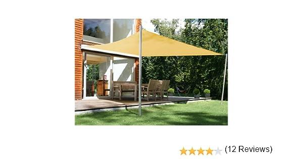Quictent - Pérgola de jardín (4 x 3 m, con toldo y cuerdas), color arena: Amazon.es: Jardín