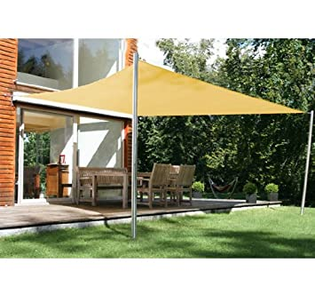 Awesome 4m X 3m Rectangle Sail Shade Sun Canopy Patio Garden Shade Awning + Free  Ropes (