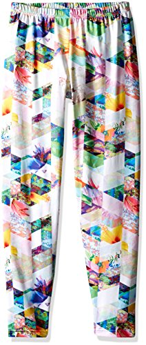 Obermeyer Kids Unisex Bearclaw Sport 75 Wt Tights (Toddler/Little Kids/Big Kids) Chevron Floral Pants MD (8 Little Kids-10 Big Kids)