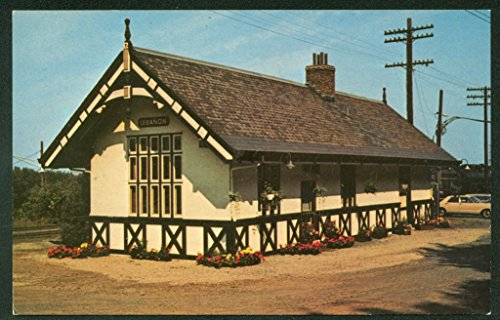 Lebanon Station New Jersey Central Railroad Company Train Depot Postcard