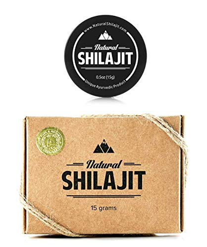 Shilajit Resin 15gr (66.8% Fulvic Acid; 10.1% Humic Acid) - Top Quality Source of Organic, Plant-based Nutrients for Energy, Weight Management, Libido and ()