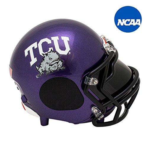 Tcu College Football (NCAA Football TCU Horned Frogs Wireless Bluetooth Speaker. Officially Licensed Portable Helmet Speaker by NCAA College Football - Small)