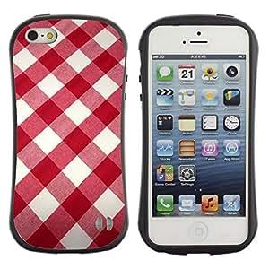 "Hypernova Slim Fit Dual Barniz Protector Caso Case Funda Para Apple iPhone SE / iPhone 5 / iPhone 5S [Blanco modelo de la tela roja""]"
