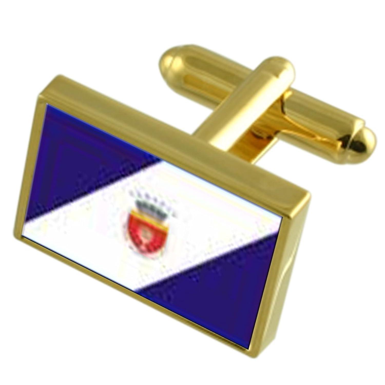 Onesti Ciudad Rumania Bandera Oro gemelos