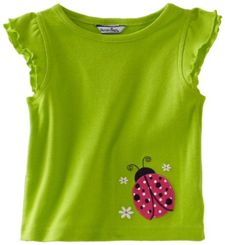 Hartstrings Baby Girls' Cotton Flutter Sleeve Lady Bug Tee