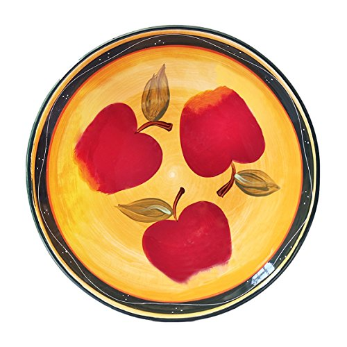 Tuscan Country Apple Collection, Hand Painted, Large Pasta Bowl Salad Fruit 13-1/2