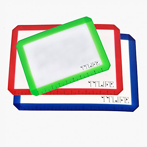 TTLIFE Set of 3 Silicone Baking Mat with