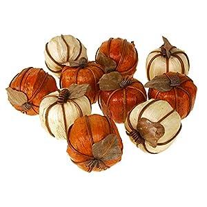 Homeford Decorative Mini Pumpkins Bowl Filler, Orange/Ivory, 2-1/2-Inch, 10-Piece 5